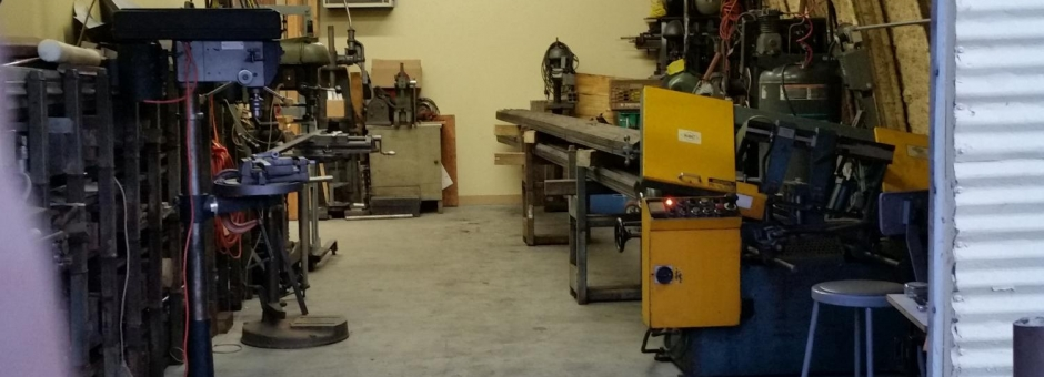 Stock Room, Welding and Saw area